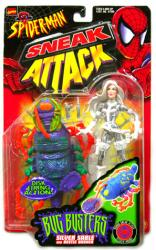 Spider-Man Sneak Attack: Bug Busters Silver Sable figure (ToyBiz/1998)