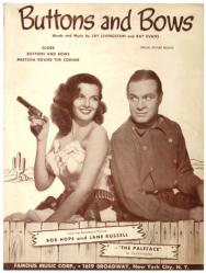 Buttons and Bows vintage sheet music [Bob Hope, Jane Russell] 1948