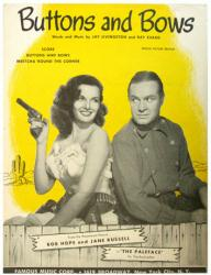 Buttons and Bows vintage sheet music [Bob Hope, Jane Russell] 1948 VG