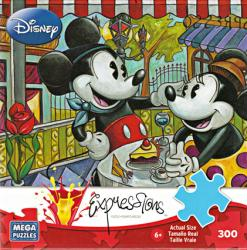 Mickey & Minnie Mouse jigsaw puzzle: Cafe Mickey [Disney] 300 piece