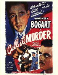 Call It Murder movie poster [Humphrey Bogart] 22 X 28