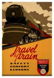 Canadian Pacific Railway Lines poster: Travel By Train (18x24)