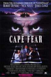 Cape Fear movie poster [Robert DeNiro/Nick Nolte/Juliette Lewis] 27x40