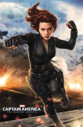 Captain America 2 movie poster [Scarlett Johansson/Black Widow] 22x34