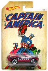 Hot Wheels: Captain America '70 Ford Mustang Mach1 diecast vehicle