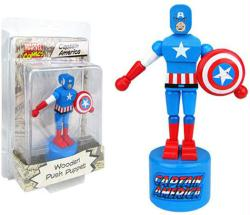 Marvel Comics: Captain America Wooden Push Puppet figure