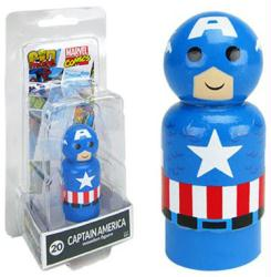Marvel Comics: Captain America Pin Mate #20 wooden figure
