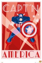 Captain America poster: Art Deco style (24x36) Marvel Comics
