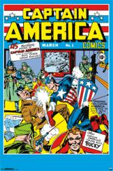 Captain America poster: Comic Book Issue No. 1 (24 X 36) Jack Kirby