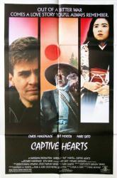 Captive Hearts movie poster (1987) [Chris Makepeace, Pat Morita] 27x41