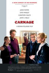 Carnage movie poster [Jodie Foster/Kate Winslet/Waltz/John C Reilly]