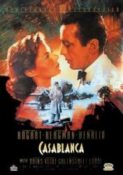 Casablanca movie poster [Humphrey Bogart & Ingrid Bergman] 50th Anniv.