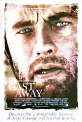 Cast Away movie poster [Tom Hanks] 27x40 video poster/NM