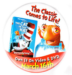 The Cat In the Hat pinback: 3'' Button [Mike Myers]