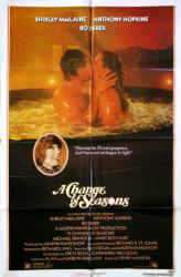 A Change of Seasons movie poster [Anthony Hopkins, Bo Derek, MacLaine]