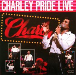 Charley Pride poster: Charley Pride Live vintage LP/album flat (1982)