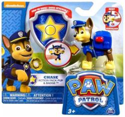 Paw Patrol: Chase Action Pack Pup & Badge figure set (Nickelodeon)