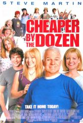 Cheaper By the Dozen movie poster [Steve Martin] 27x40 video version