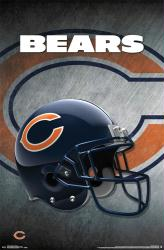 Chicago Bears poster: Helmet (NFL) 22x34