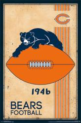 Chicago Bears poster: Retro Logo (22x34) NFL