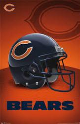Chicago Bears poster: Helmet (NFL) 22 1/2'' X 34''