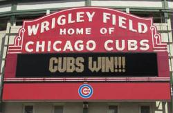 Chicago Cubs poster: Cubs Win (34'' X 22 1/2'') New
