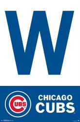 Chicago Cubs poster: W (MLB) 22x34