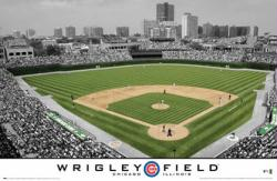 "Chicago Cubs poster: Wrigley Field (34"" X 22 1/2"") New"