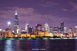 Chicago, Illinois poster: Skyline (36x24) New