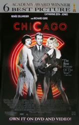 Chicago movie poster [Gere, Zellweger, Zeta-Jones] 26x40 video version