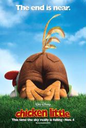 Chicken Little movie poster (2005) Walt Disney advance teaser NM