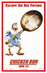 Chicken Run movie poster (27x40 advance) Escape Or Die Frying