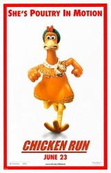 Chicken Run movie poster (27x40 advance) She's Poultry In Motion