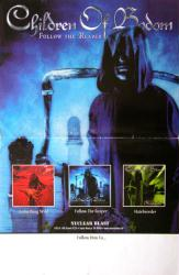 Children of Bodom poster: Follow the Reaper (11x17 promo poster)