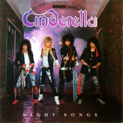 Cinderella poster: Night Songs vintage LP/Album flat (1986)