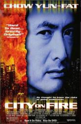 City On Fire movie poster [Chow Yun Fat] 26x40