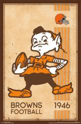 Cleveland Browns poster: Retro Brownie the Elf Logo (22x34) NFL