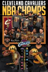 Cleveland Cavaliers poster: NBA Champs 2016 (24x36) LeBron, Kyrie