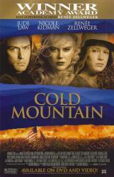Cold Mountain movie poster [Jude Law, Nicole Kidman, Zellweger] 26x40
