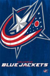 Columbus Blue Jackets logo poster (NHL) 22 1/2'' X 34''