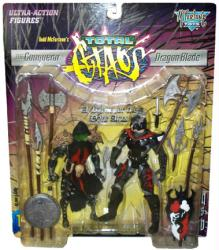 Total Chaos: Conqueror & Dragon Blade action figures (McFarlane/1997)