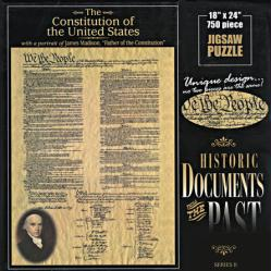 Constitution of United States jigsaw puzzle: 750 pc Historic Documents