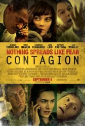 Contagion movie poster /Marion Cotillard/Matt Damon/Laurence Fishburne