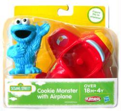 Sesame Street: Cookie Monster figure with Airplane (Playskool/2013)