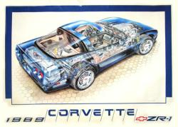 Corvette ZR-1 poster (1989 dealership poster)