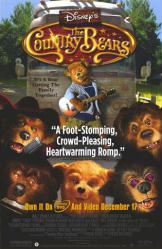 The Country Bears movie poster [Disney] 26x40 video version