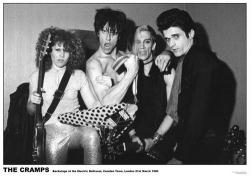 The Cramps poster: Backstage at Electric Ballroom (33'' X 23 1/2'')