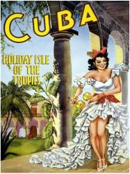 Cuba poster: Holiday Isle of the Tropics (18x24) Travel