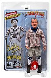 "Three Stooges: Three Little Beers Curly 8"" retro-style action figure"