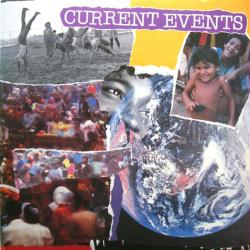 Current Events poster: Vintage LP/Album flat (1989)